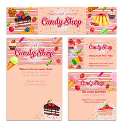 corporate style template with confectionery vector image vector image