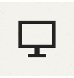 Flat Monitor Icon vector image