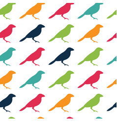 seamless pattern texture with birds vector image vector image