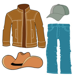 set of men clothes vector image