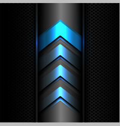 Abstract blue arrow power light technology vector