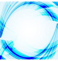 Abstract blue background with bent lines vector image