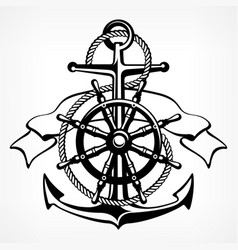 anchor symbol badge on white vector image