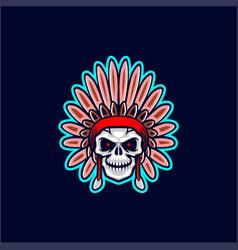 Apache skull head vector