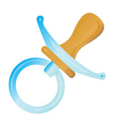Babies blue pacifier vector