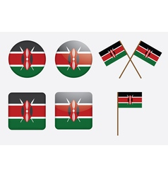 badges with flag of Kenya vector image