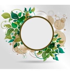 beautiful background with flora vector image