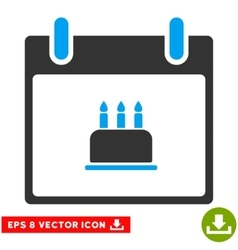 Birthday Cake Calendar Day Eps Icon vector