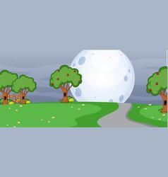 blank horizontal scene with many tree in park vector image