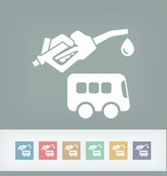 bus fuel icon vector image