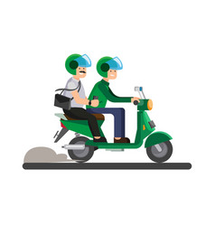 Business man use online transportation icon vector