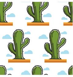 cactus egyptian desert plant seamless pattern vector image