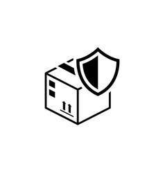 Cargo protection icon flat design vector