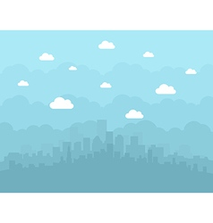 City is flat vector image
