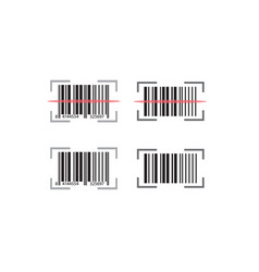 codabar set with scan line effect design vect logo vector image