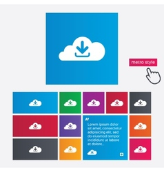download from cloud icon upload button vector image