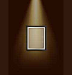 empty frame under limelight vector image