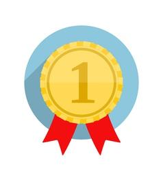 Flat Golden Medal vector image