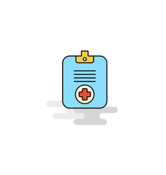 flat medical clipboard icon vector image