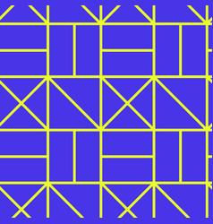 geometric maze seamless pattern vector image