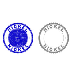 Grunge nickel scratched stamps vector