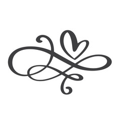Heart love flourish sign forever infinity vector
