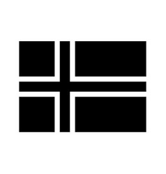 Iceland flag black and white country national vector