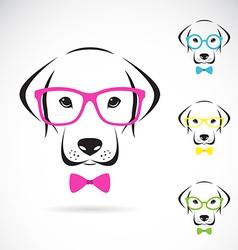 Images dog labrador wearing glasses vector