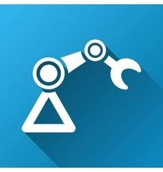 Industrial Manipulator Gradient Square Icon vector