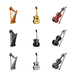 isolated object of music and tune symbol vector image