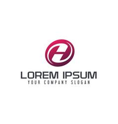 letter h emblem logo logo design concept template vector image