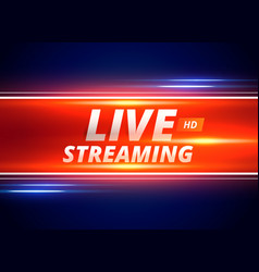 live streaming concept design for news channels vector image