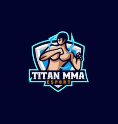 Logo titan e sport and sport style vector