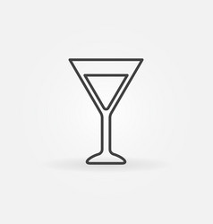 martini glass simple icon vector image