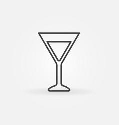 martini glass simple icon vector image vector image