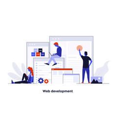 modern flat design concept - web development vector image