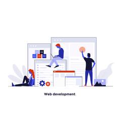 modern flat design concept - web development vector image