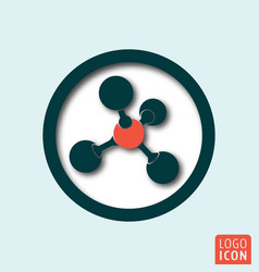 molecule icon minimal shadow design vector image