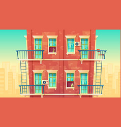 Multi-storey apartment vector