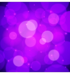Purple bokeh effect abstract background vector image