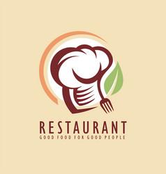 restaurant logo design idea vector image