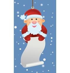 santa ornament holding letter vector image