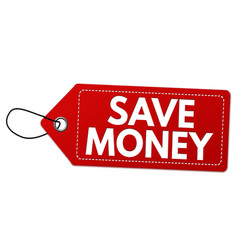Save money label or price tag vector