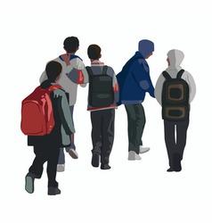 Schoolboys vector image