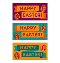set colorful easter banners vector image