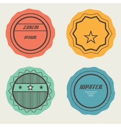 Set of retro stamps and badges vector