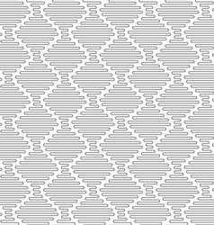 Slim gray connecting vertical diamond waves vector image