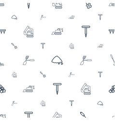 Soil icons pattern seamless white background vector