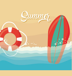 summer season design vector image