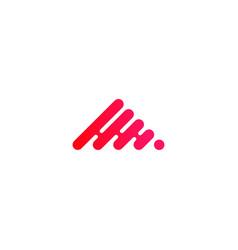 technology logo triangle pyramid flow dot vector image